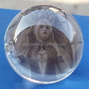 wholesale K9 top quality glass crystal ball photo frame