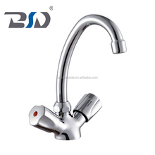 Brass classic dual handles basin faucet with 1/4 turn ceramic disc cartridge for Asia
