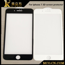 cell phone screen protector for iphone 7 3D tempered glass diamond hardness high transparent glass screen protector