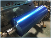 Blue color adhesive thin EMAA boned film used for aluminum foil cables