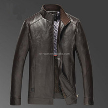 new indian leather trench pu leather bomber jackets for men big raccoon collar