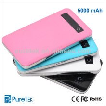 portable mobile power bank 5000mAh for iphone5, 5S, 5C, Samsung
