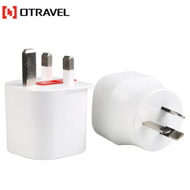 New earthed Europe to United kingdom adapter white 2pin European korea socket travelling small London adapters
