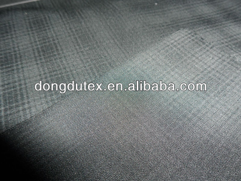 Popular hidden grid Polyster and Rayon Men Pants and Trousers fabric
