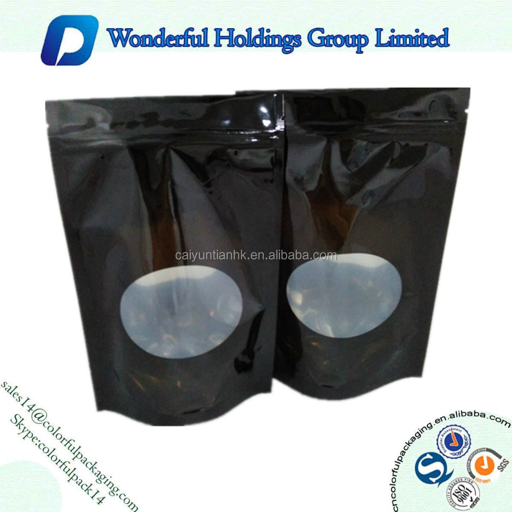 high quality ziplock stand up with window / custom printed stand up pouch / coffee/tea packaging bag