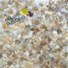 Mother of pearl shell mosaic tile irregular shape net mounted wall decoration