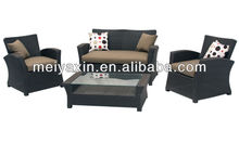MYX12-641 PE Rattan cheap black outdoor furniture technorattan