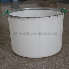 large plastic cleaning bucket with rope handle