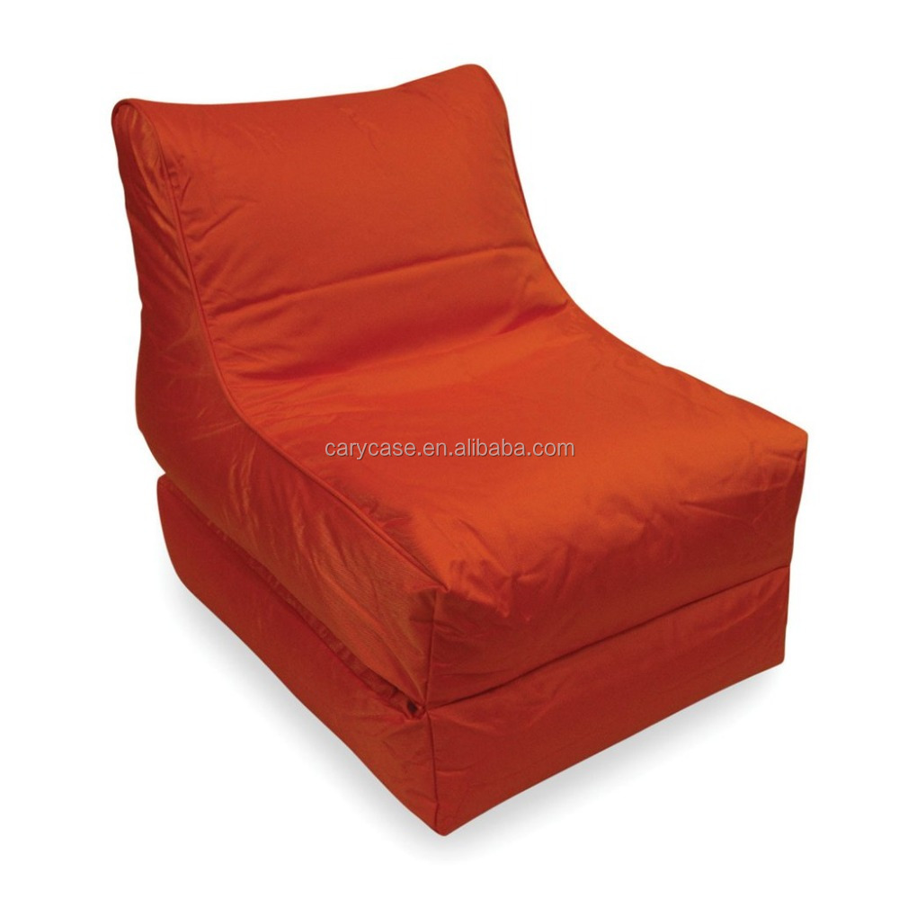 exterior landscape deeper orange Snow skating outdoor bean bag chair, folding easy carry beanbag chaise lounge