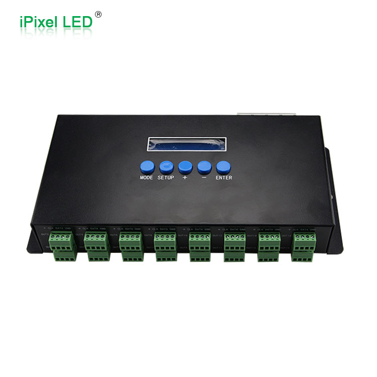 16 channels Madrix software artnet to DMX/SPI WS2811 WS2801 pixel led ethernet controller