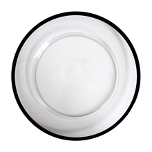 JC Opal Luxury Clear Glass Black Rose Gold Rim Dinner <strong>Plates</strong> For Wedding Restaurant