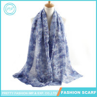 Halo Leaf TR Maple High End Scarves Cotton Fabric Scarf