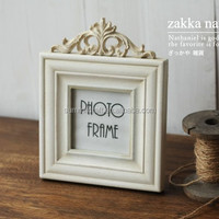 Resin pure white design wedding picture frames