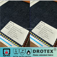 100% cotton material durable EN11611/EN11612 flame retardant Jeans or Denim fabric 280gsm