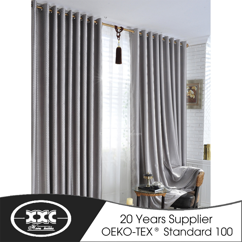 China Factory Sales Chenille Royal Grey color blackout curtain for hotel