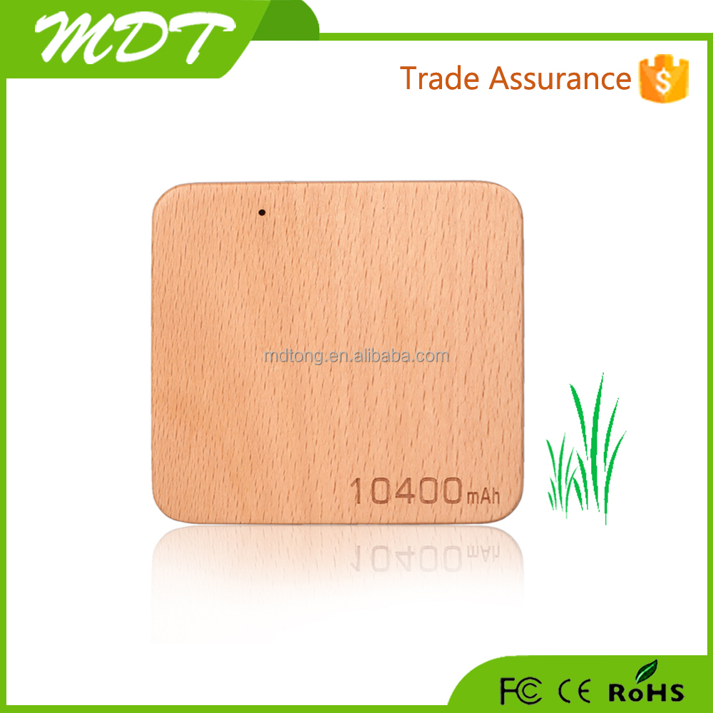 Fashional style 10400mah wood power bank with various bright color,mobile power with wood case