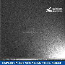 4x8 3mm colored bead blast stainless steel decorative metal sheets for wall panel