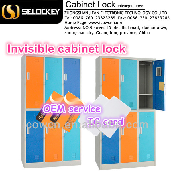 Intelligent Zinc alloy electronic Metal hidden invisible RFID locker lock for safe(EM-L1)