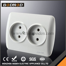 High quality pc panel double european electrical outlet socket,decorative electrical outlets