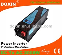 2000W 24V UPS Pure Sine Wave Intelligent DC/AC Power Inverter With Charger