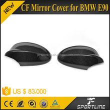 JC Sportline CF + ABS Full Replacement Glossy Carbon Fiber Side Mirror Cover for BMW E90 E91 320 328 335d 05-08