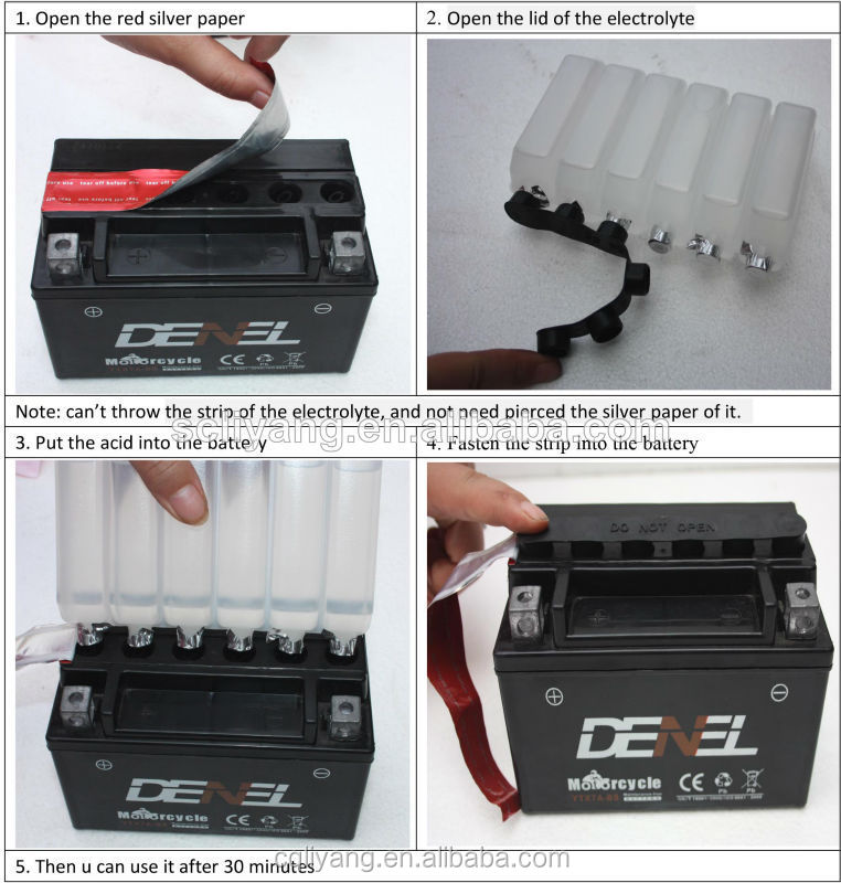New technique YTX5L-BS 12v 4ah motorcycle battery with best price