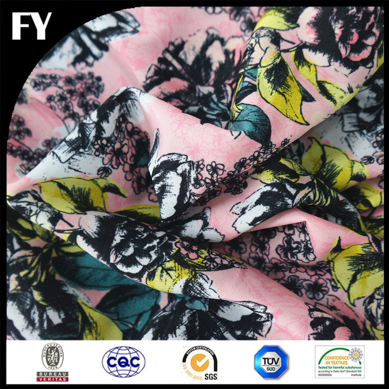 2016 Factory direct custom high quality digital 92% polyester 8% spandex fabric