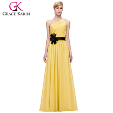 Grace Karin Ladies One Shoulder Long Chiffon Evening Dress China Online Shopping CL6016-2#