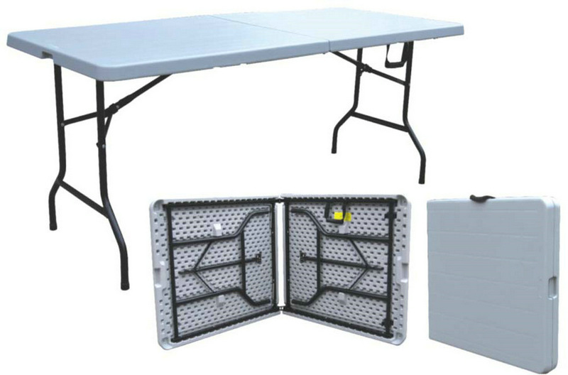 Outdoor Vintage Style Folding Table/half Fold Table 6ft/outdoor Camping  Equipment/sale