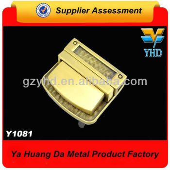 die casting metal push lock for bag lock and bag accessories