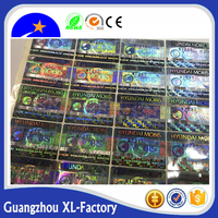 2018 hot sale labels Making security certificate hologram 3D sticker,hologram sticker certificate