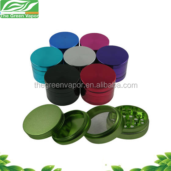 Hot sale Zinc and aluminum CNC weed grinder, top clear herb grinder with handle