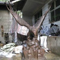 Large bronze eagle statue for sale
