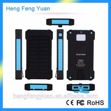 Hot product Waterproof Solar power bank 10000mah, Solar Energy Charger for Smartphone