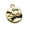Wholesale Custom Carved Love Letters with Golden Diamond Pendant the Latest Valentine's Day Gift