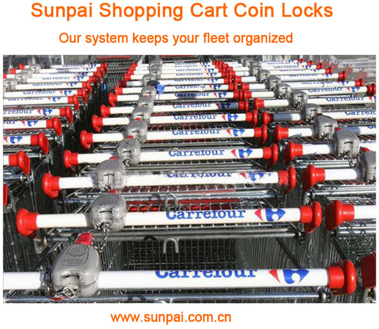 Zinc alloy coin lock for supermarket shopping cart