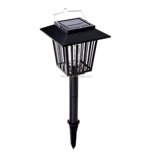 White & UV LED Solar Light Rechargeable Mosquito Killer Lamp Lawn Lights Outdoor insect killing Lantern for Garden Farm