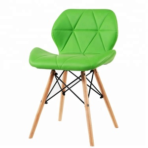 newest design wood leg butterfly leather seat modern plastic chair factory
