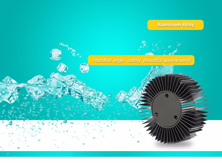 Round Sunflower Aluminum Alloy Heat Sink For LED