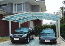 aluminum double carport/garage carport design swith polycarbonate roof