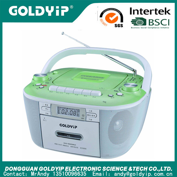 dvd boombox cassette player with usb