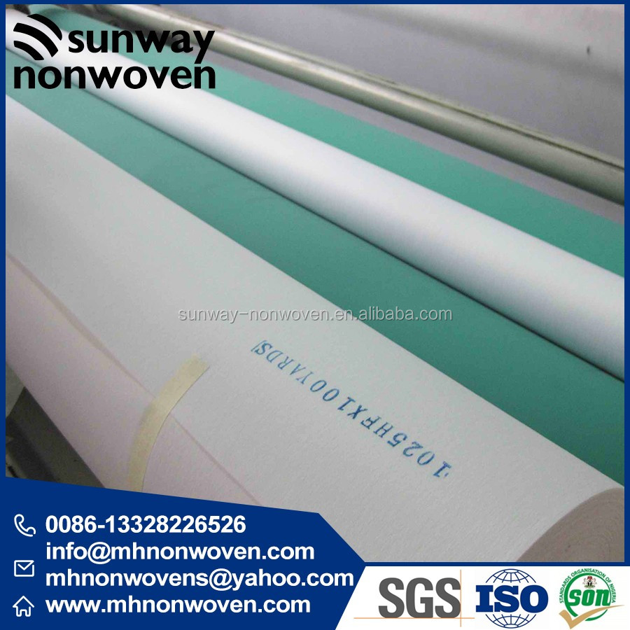 chemical bond non woven interlining (gum stay 1025HF,1035HF,1050HF )