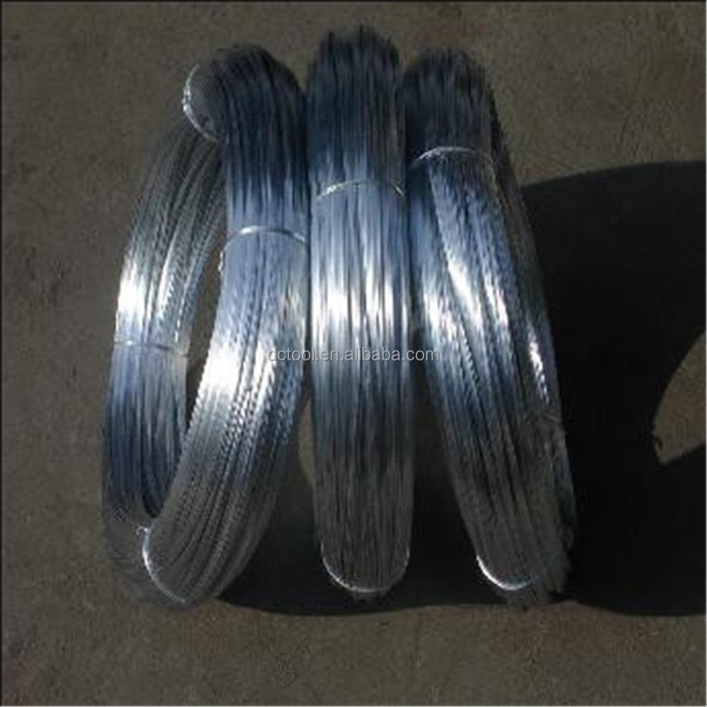 Galvanized wire building iron