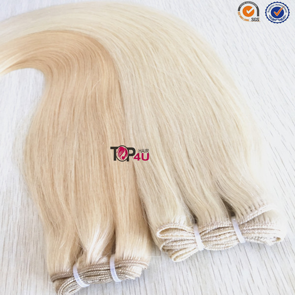 100% virgin cuticle unprocessed high quality brazilian hair weft
