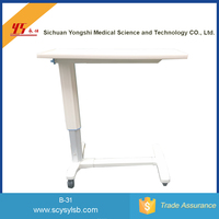 Wholesale Movable steel bedside dinning table hospital with wheels
