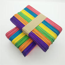 hot sale colorful DIY kids wooden craft stick ice cream stick