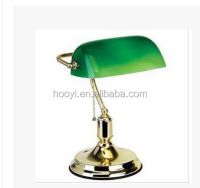Chrome Solid Brass Banker Lamp,Ukraine/Russia/German/American/European/glass lamp