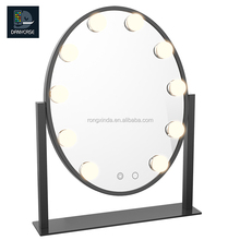China suppliers professional artist led vanity hollywood salon mirror with lights mirrors for hair salons makeup products