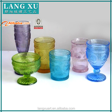 Eco-friendly drinkware purple colored drinking glass set