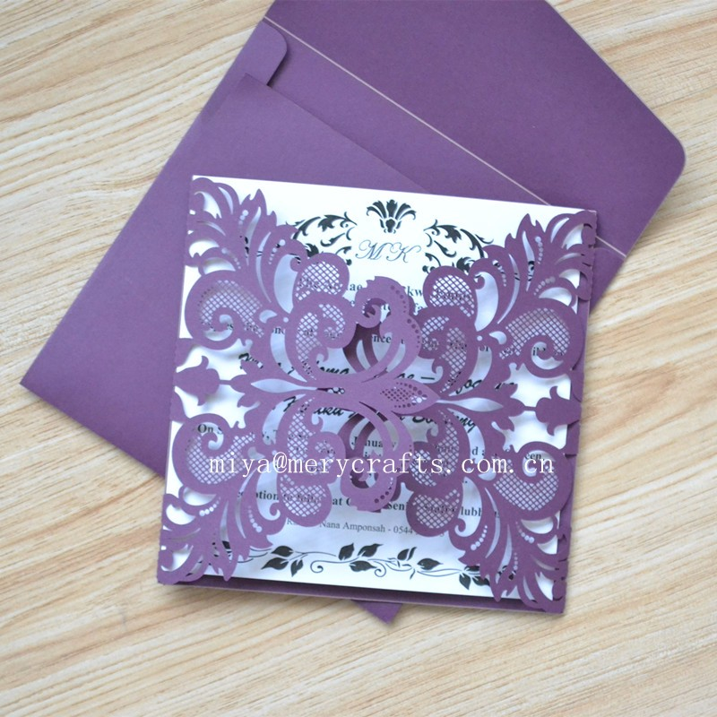 laser cut paper invitation card for opening ceremony
